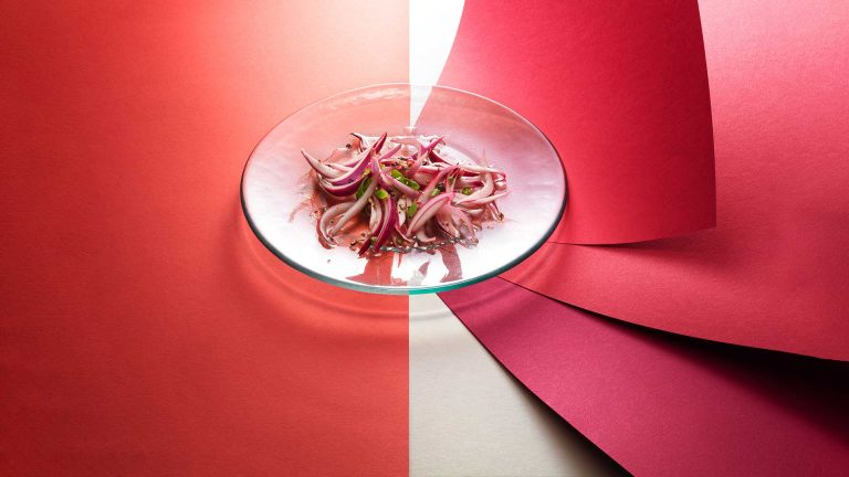 Rapid infusion pickled onions