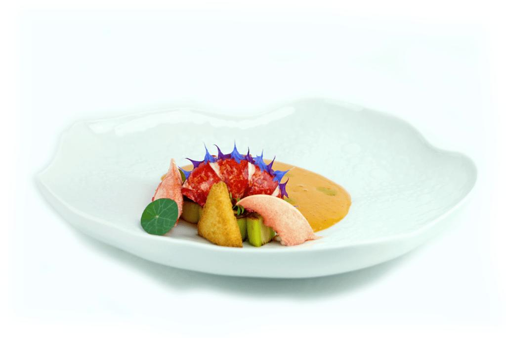 rich lobster soup & foam